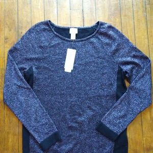 NWT Weekends By Chico's Glitter Top J